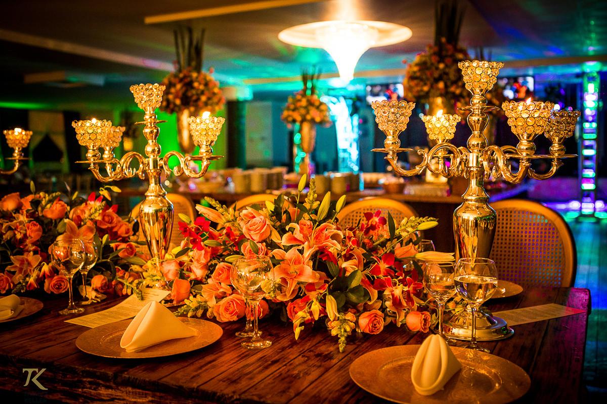 Foto de decoração do casamento de Dougas e Isabelle.