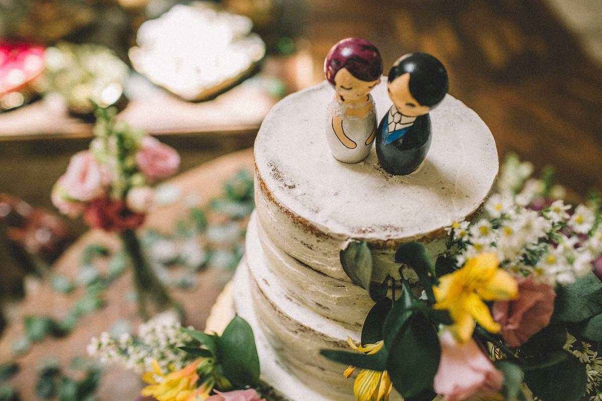 Bolo de noiva feito pela Cirônia em Brasília-DF