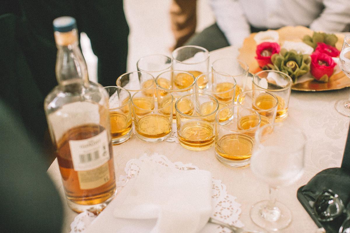 Rodada de Whisky em casamento