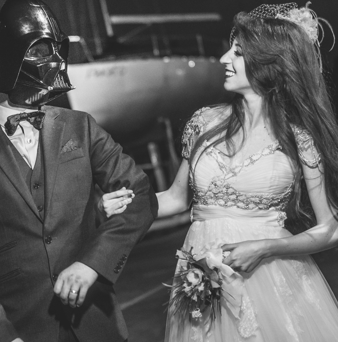 wedding vintage retro star wars nerd casamento