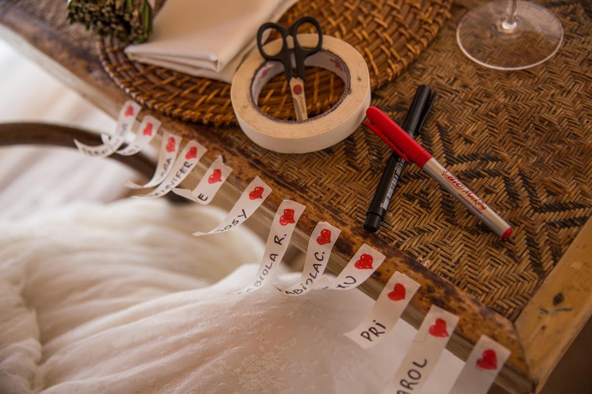 Nome das solteiras para colocar no vestido de noiva