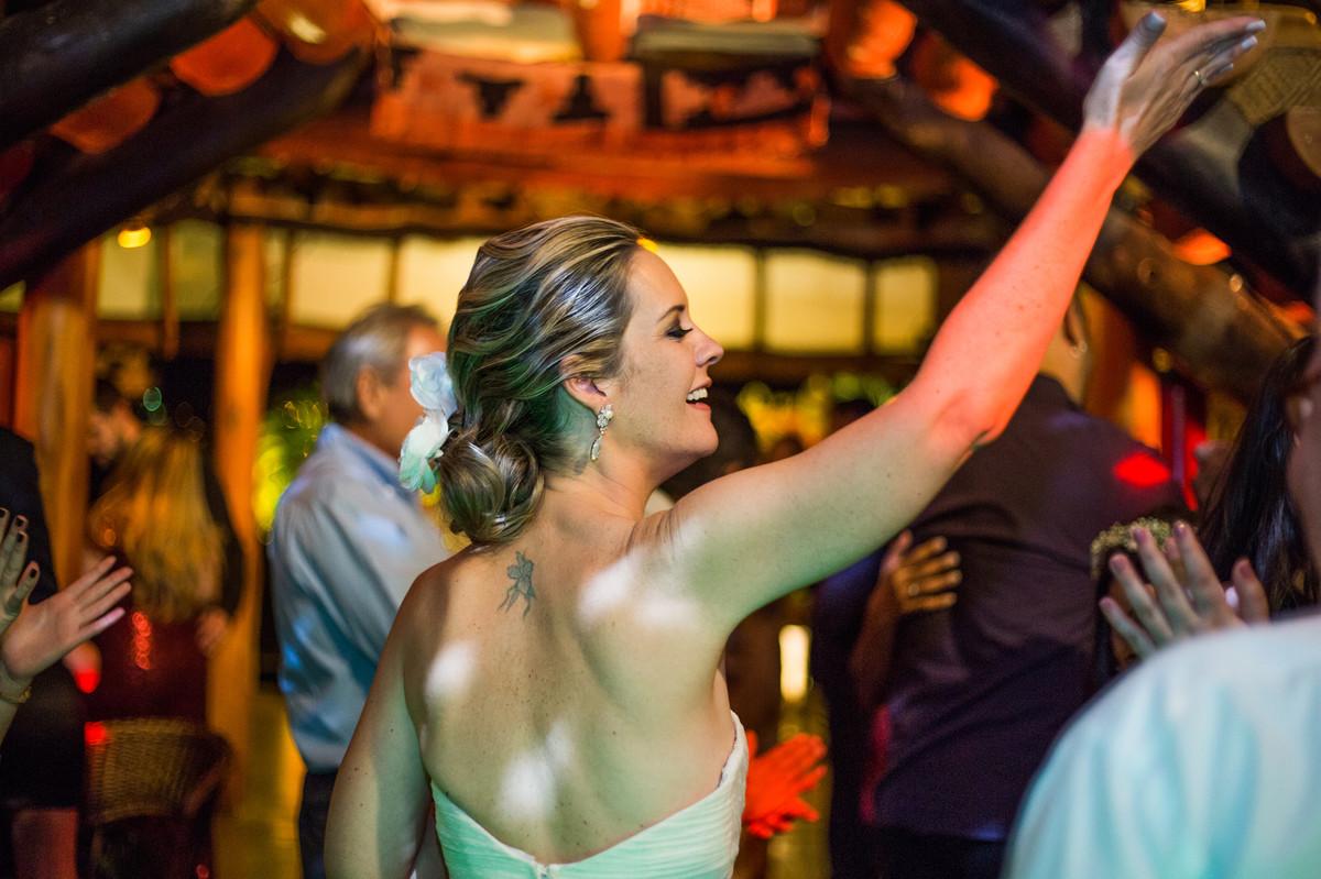Noiva em sua festa de casamento