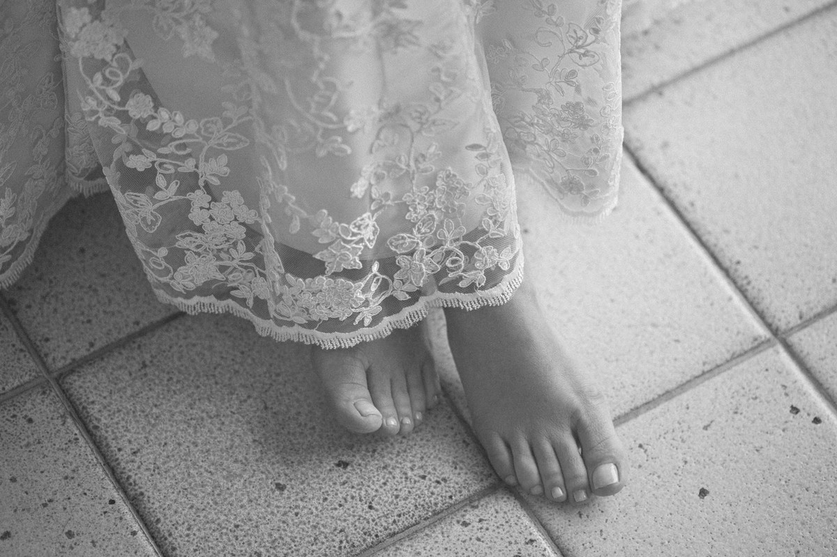 Pés de noiva