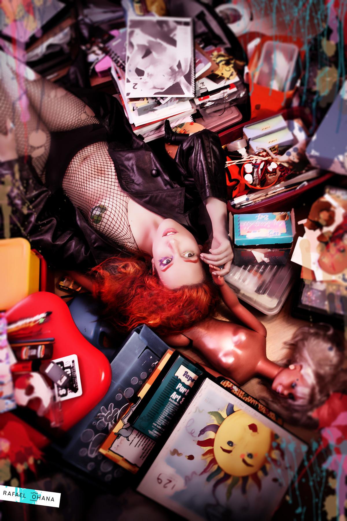 Ensaio delirium sandman do Neil Gaiman feito pelo fotógrafo de retratos Fantasy Rafael Ohana em Brasília-DF