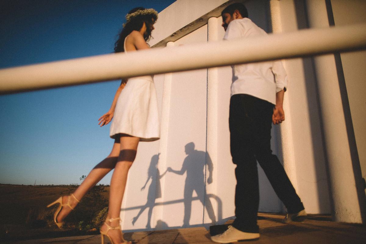 Sombras.Ensaio de casal feito pelo fotografo de casamento Rafael Ohana em Brasilia-DF