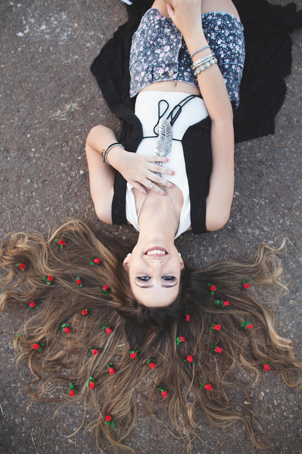 Ensaio de 15 anos no estilo Boho foto feita pelo fotógrafo Rafael Ohana em Brasília-DF