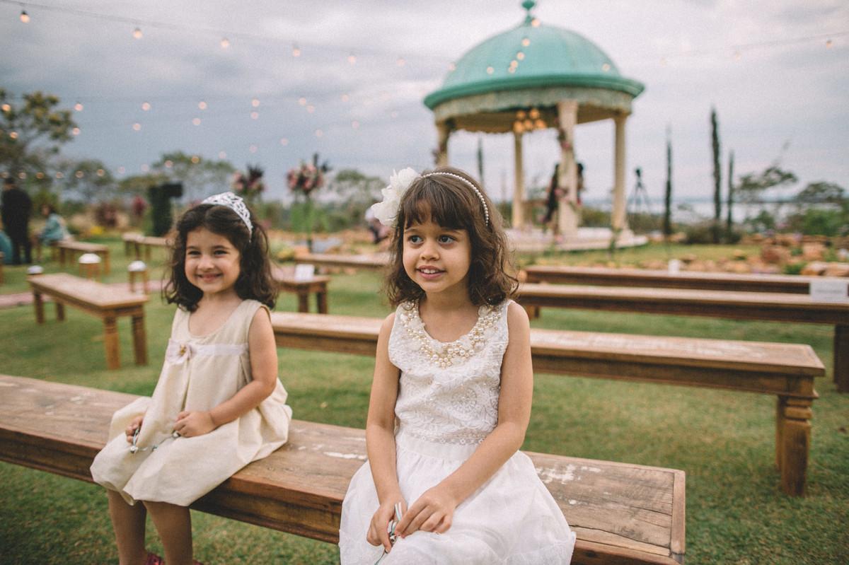Daminhas no casamento no Villa Giardini em Brasília-DF
