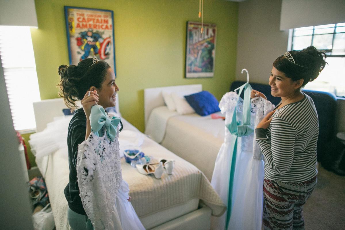 daminhas de casamento em making of em Orlando-FL