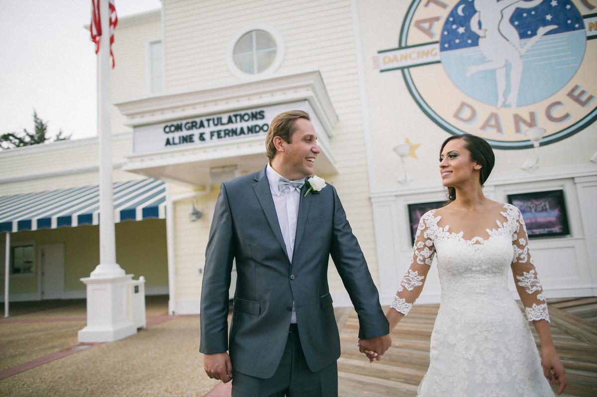 festa de recepção do casamento no Atlantic Dance Hall na Disney em Orlando-FL