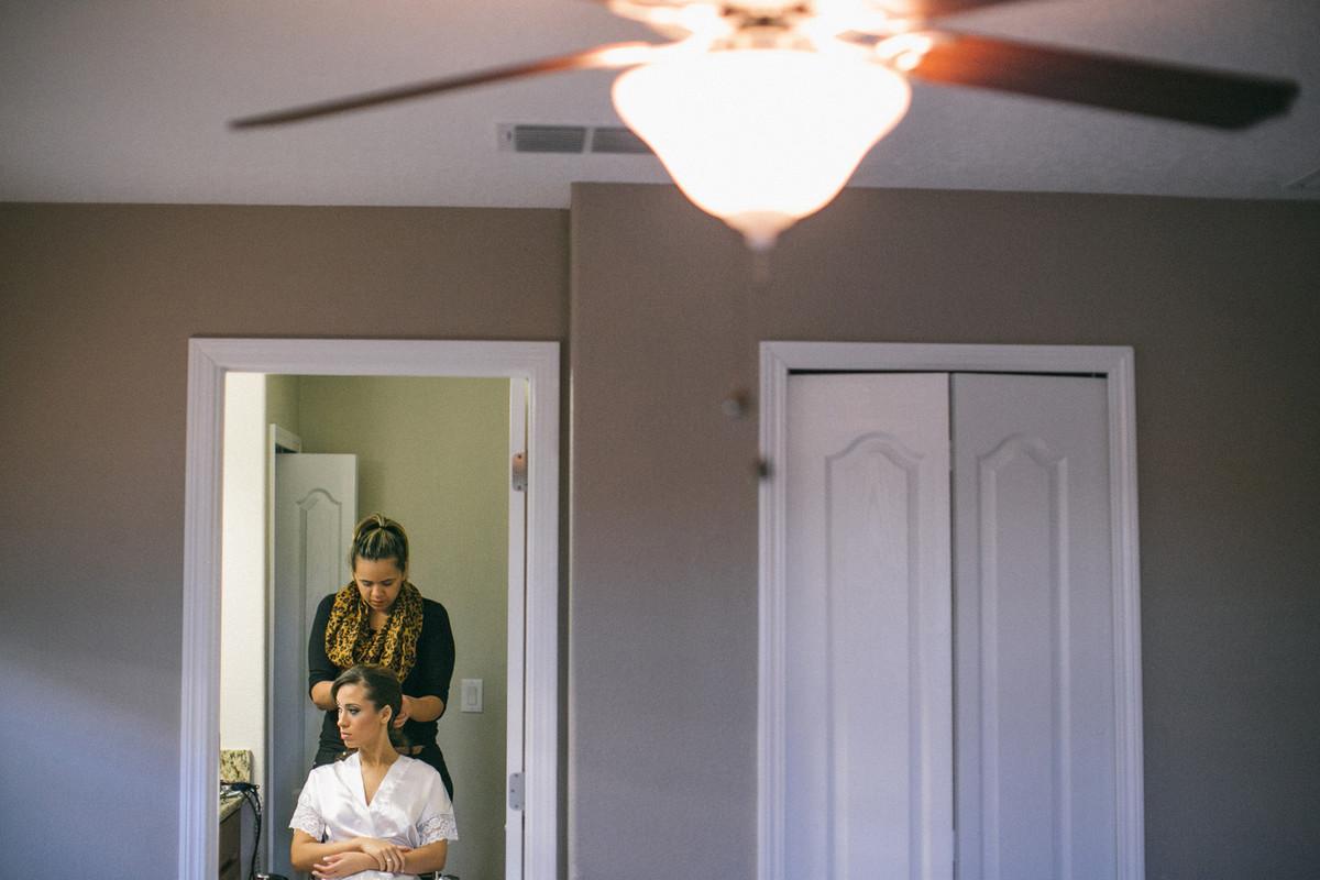 Making of de noiva feito em casa em Orlando-FL