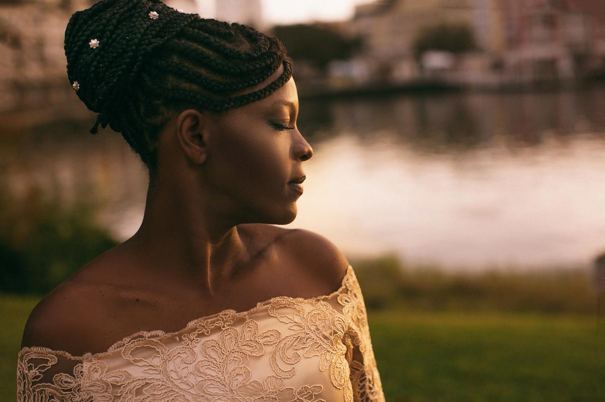Penteado afro incrivel
