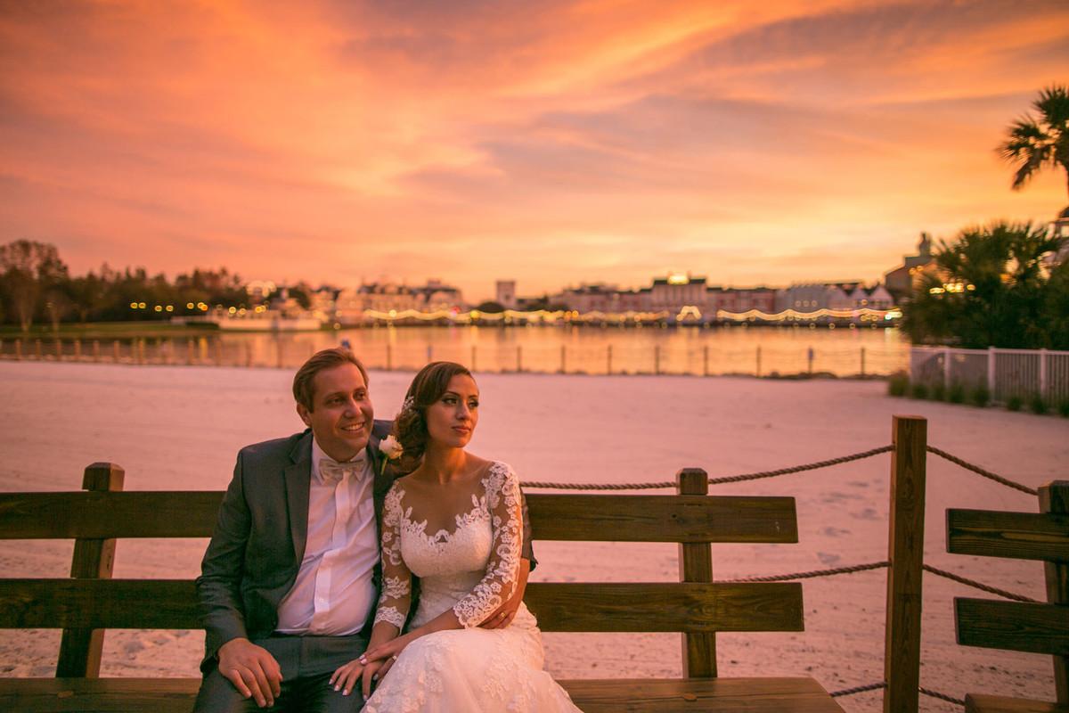 Casamento na disney Boardwalk na Disney em Orlando na Florida