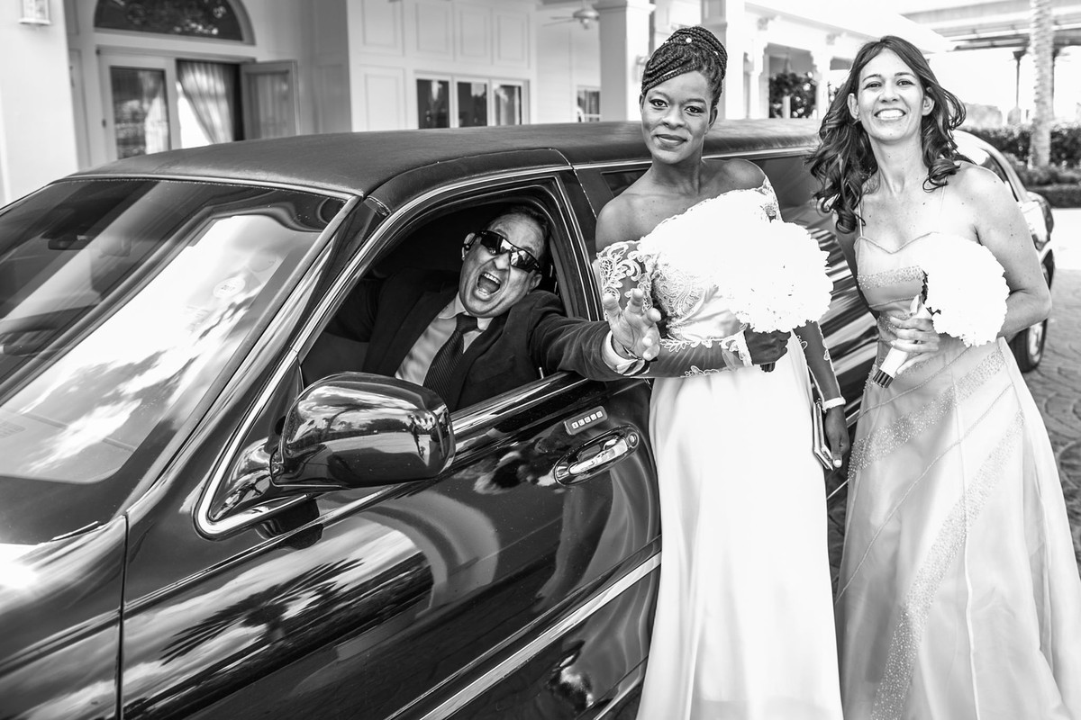 Casamento na Disney Wedding Pavillion  demoiselles e limosine