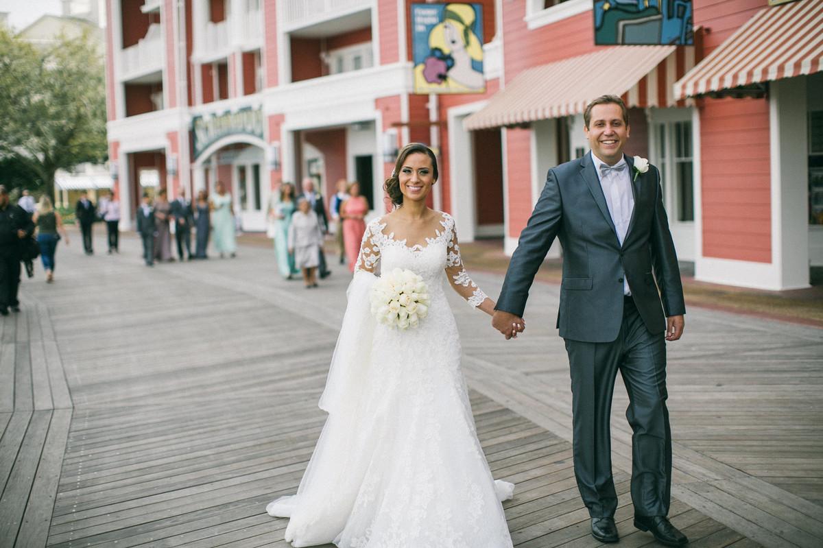 Noivos na Boardwalk da Disney em Orlando- FL