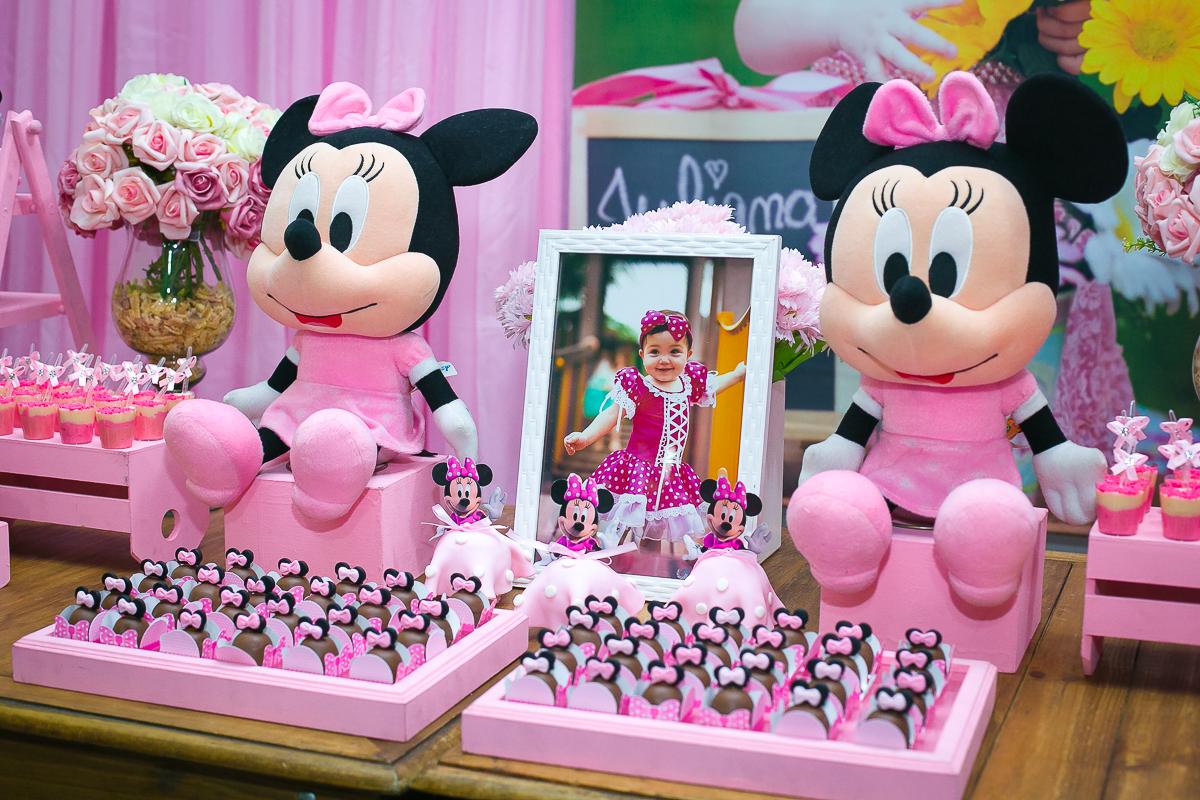 Festa 1 aninho minnie rosa
