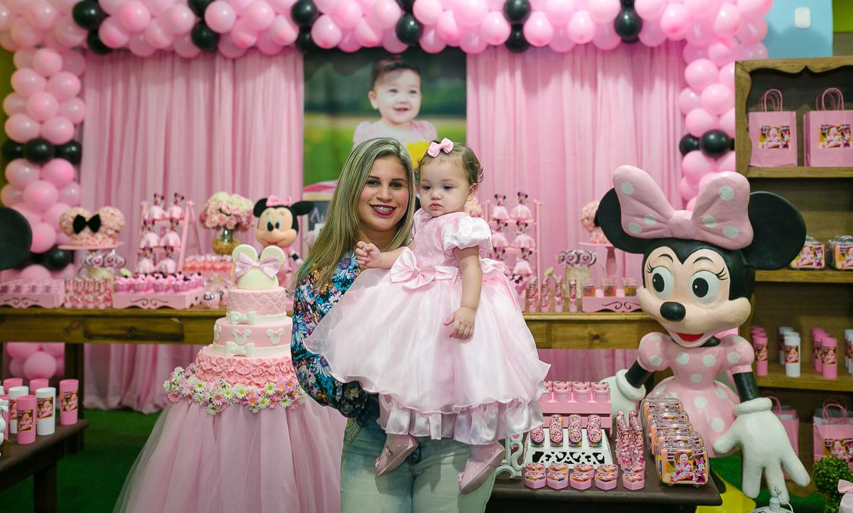 vestido festa minie rosa