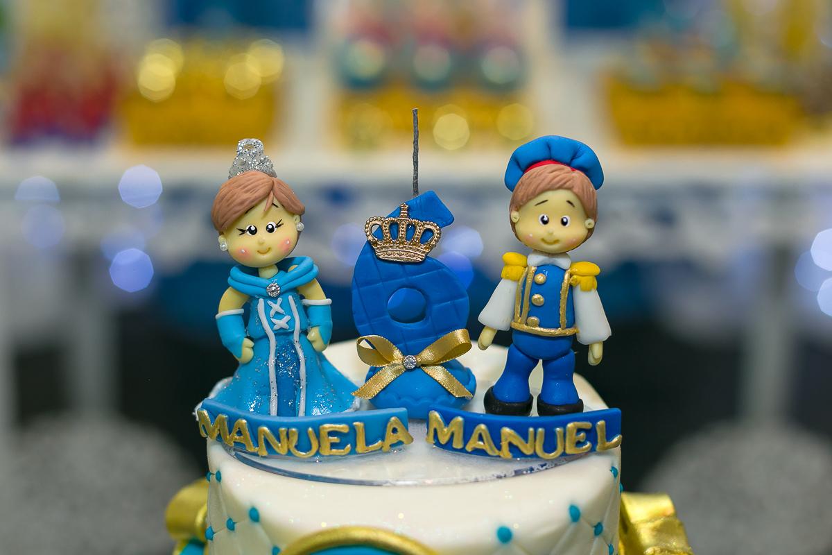 Topo de bolo Principe e Princesa