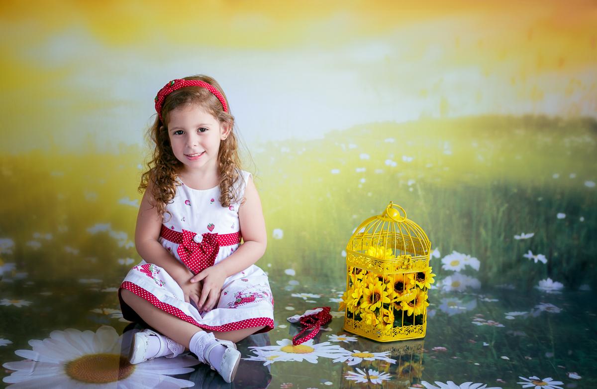 Fotografia infantil flores