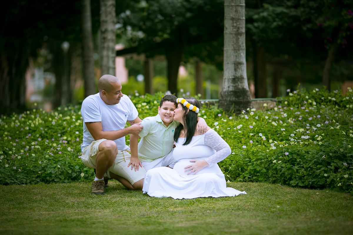 Fotografia gestante e família
