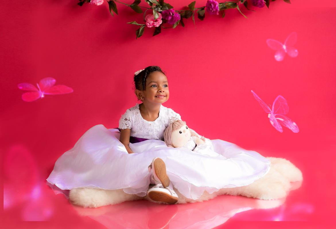 Ensaio em Estúdio Princesa Rosa