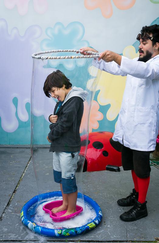 Fotografia criativa com bolhas de sabão