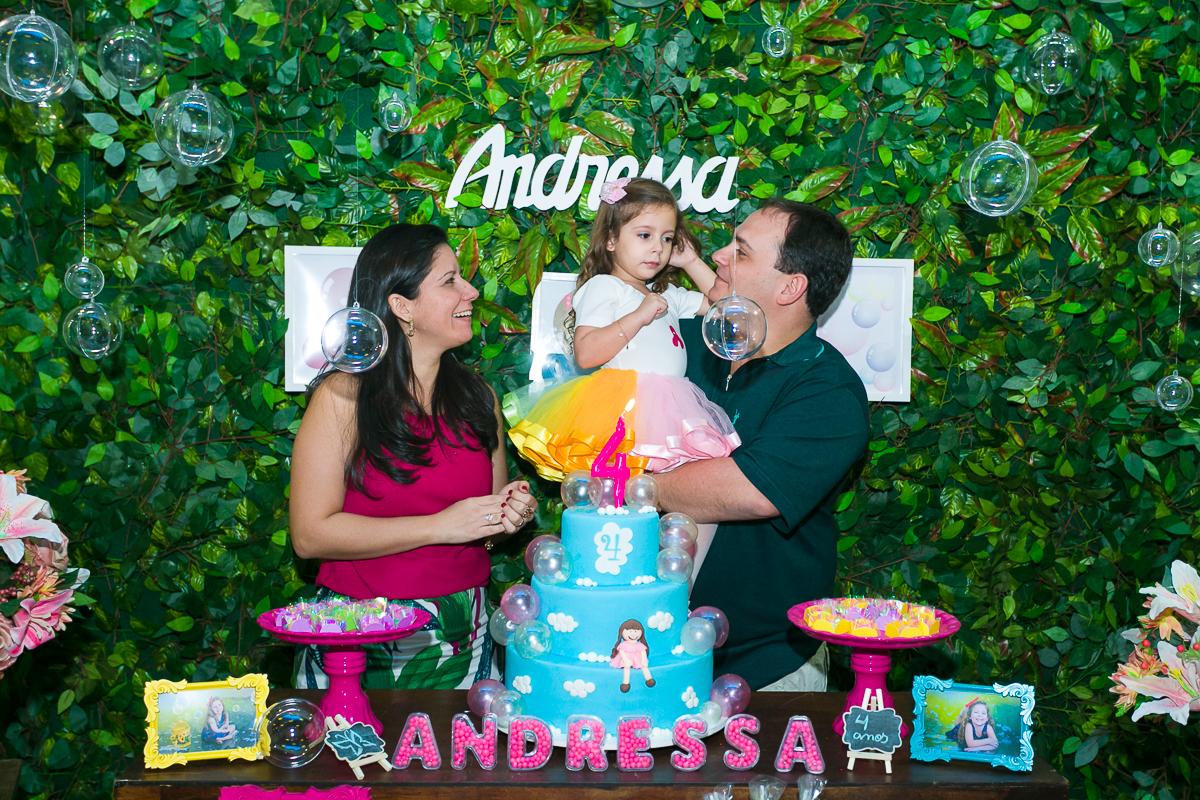 Fotografia de família festa infantil na Taquara