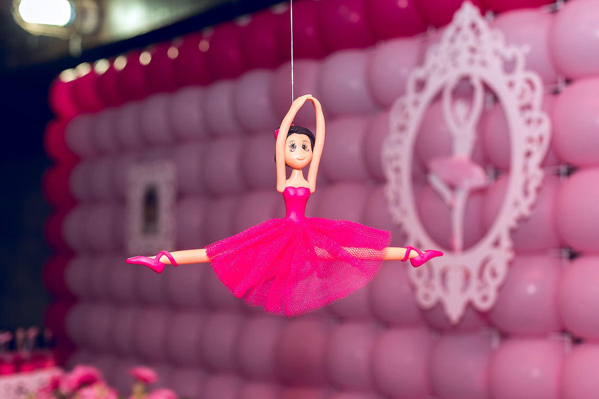 Festa infantil balarina Rosa