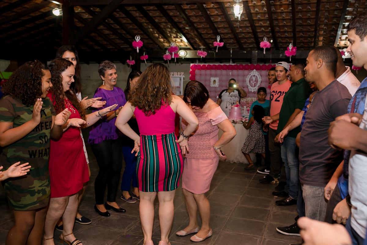 Festa da bailarina família animada