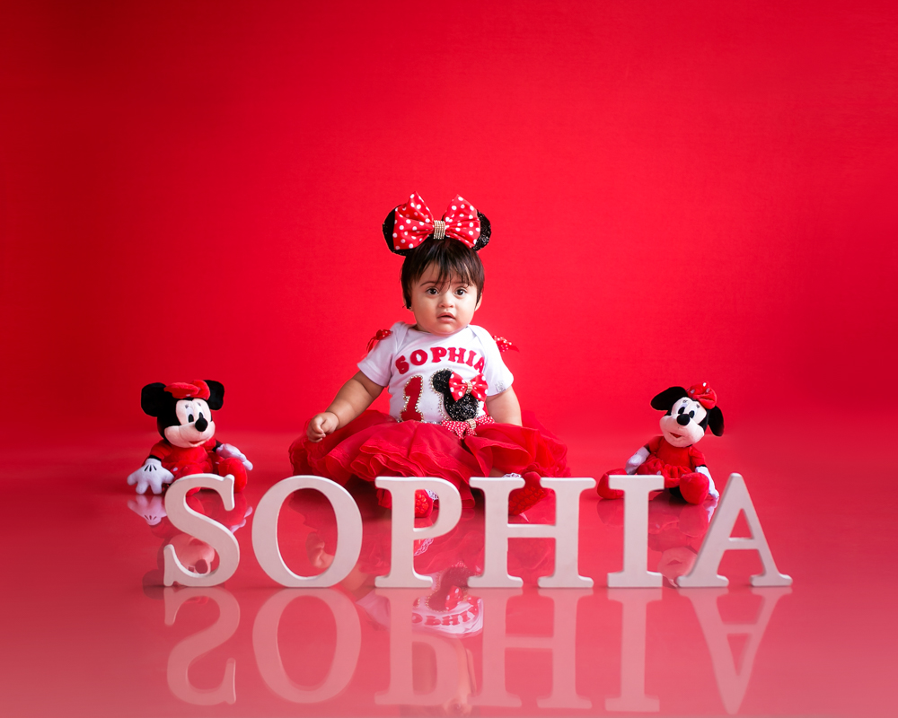 Ensaio Infantil Minnie Vermelha