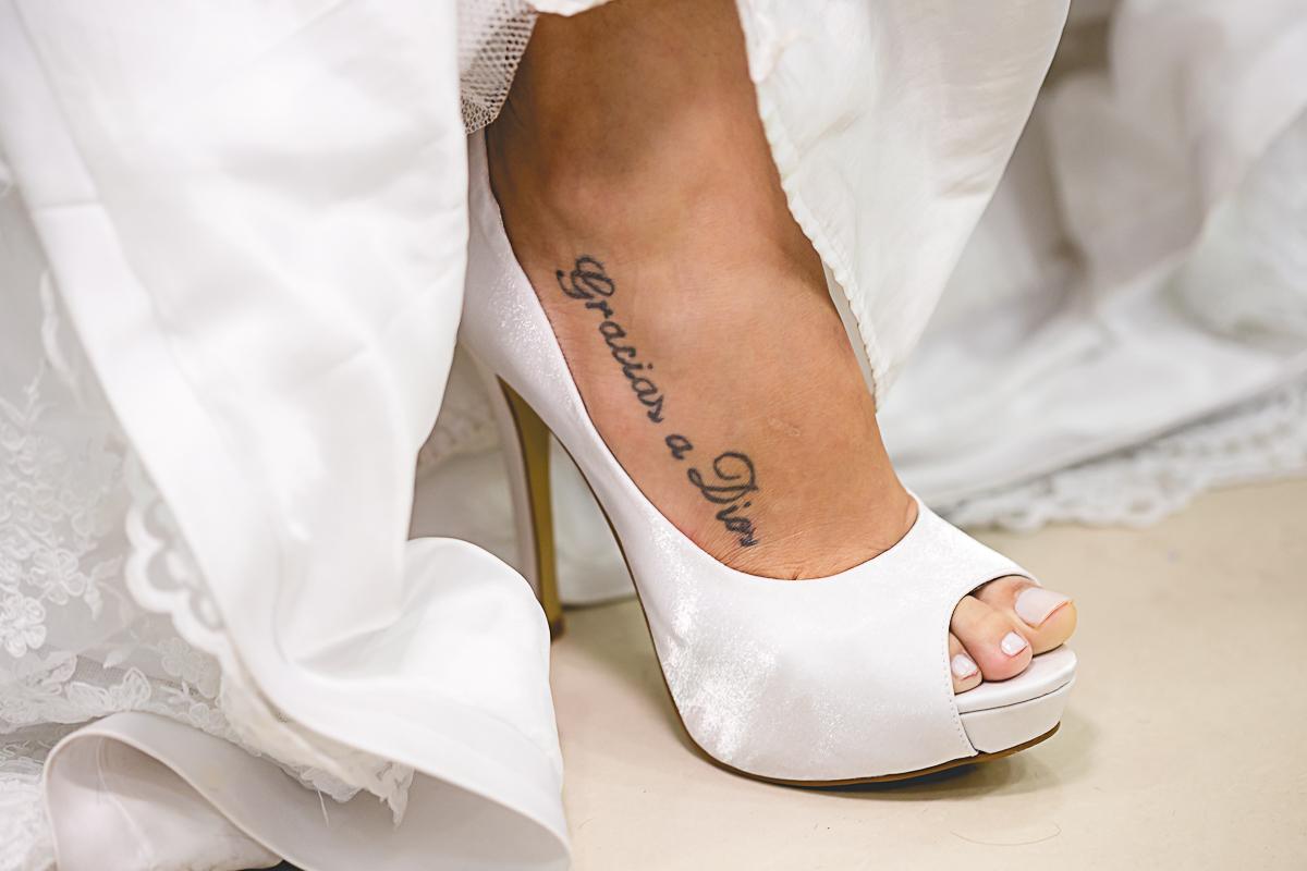 Tatuagem Pé da Noiva