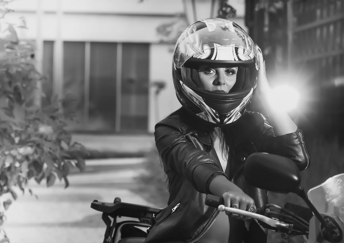 Ensaio modelo moto esportiva