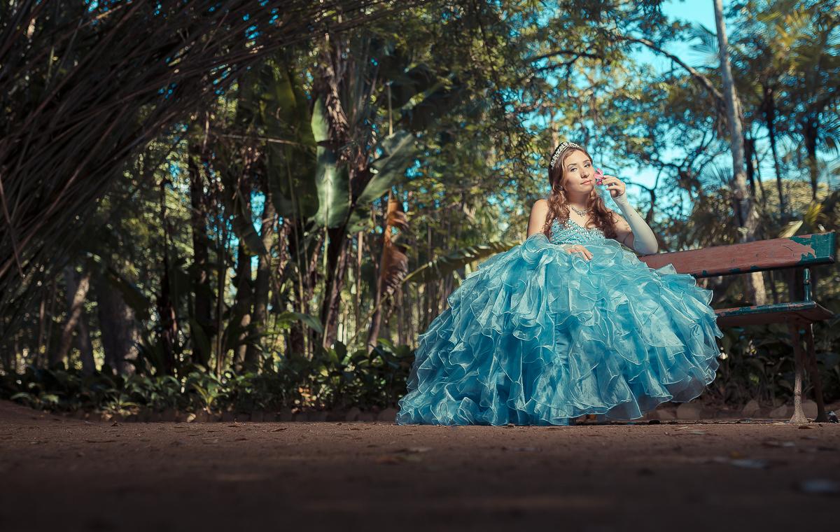 Vestido Azul debutante