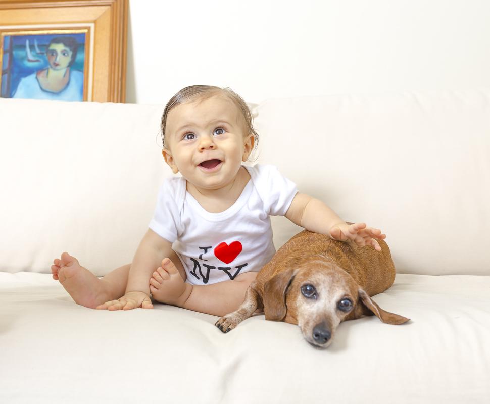 Vicente e sua cachorrinha