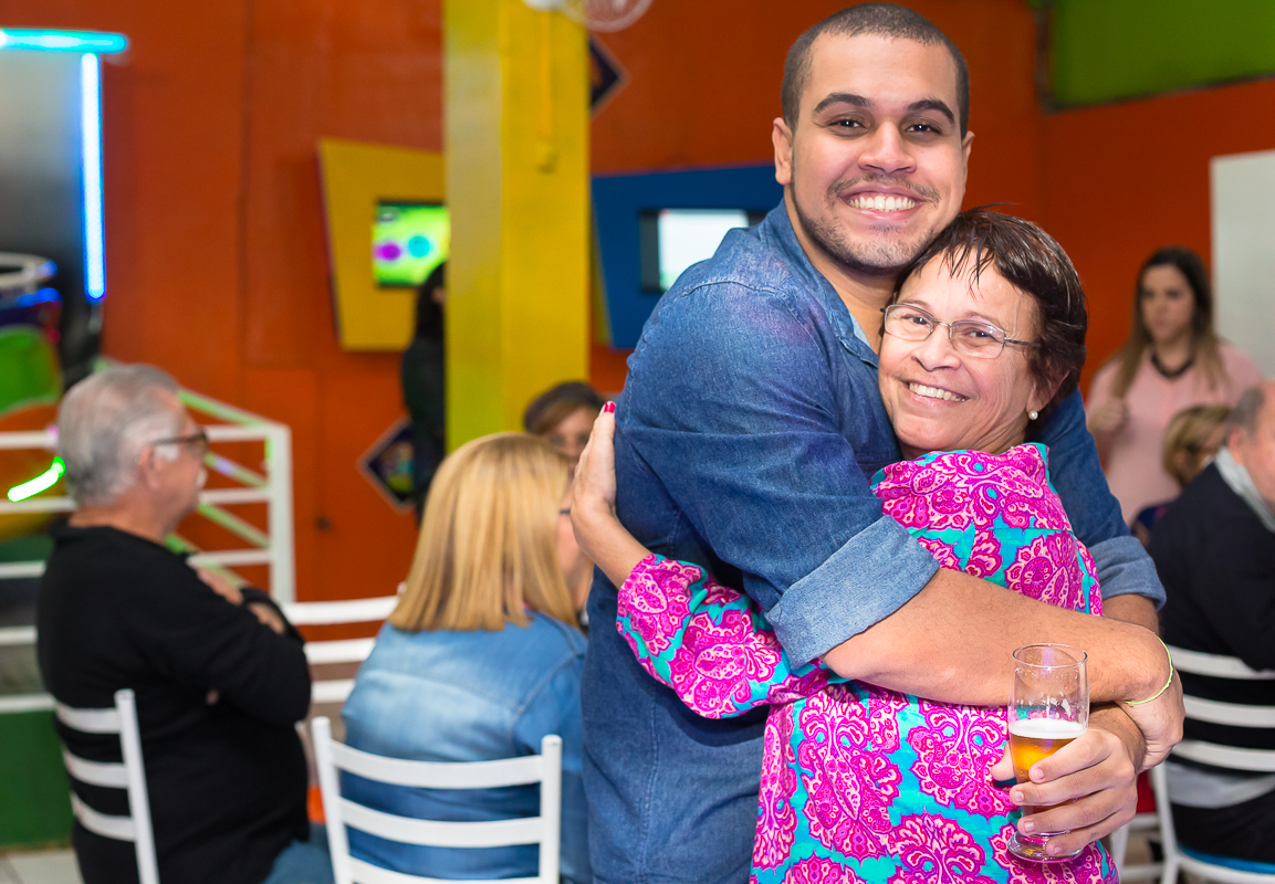 Abraço na mami