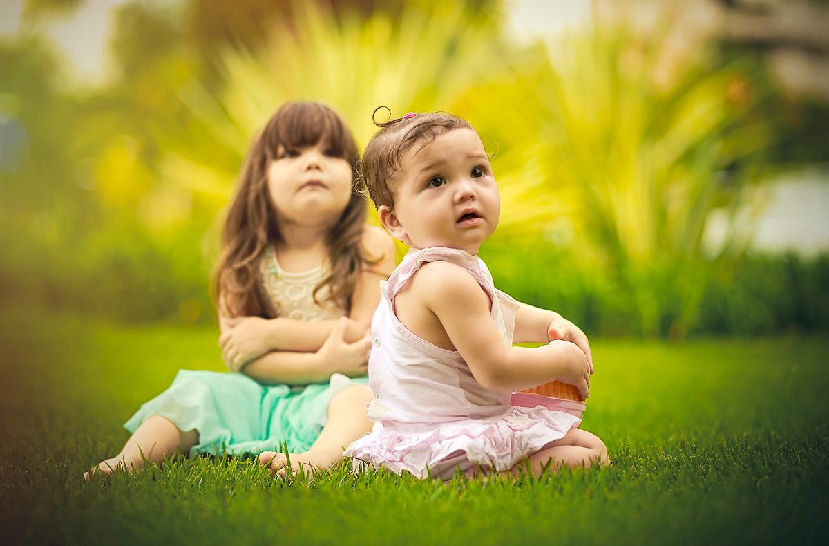 Irmãs ensaio infantil