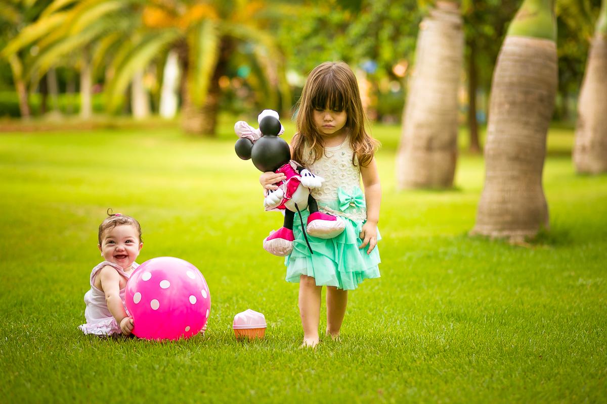 Ensaio Infantil no Jardim