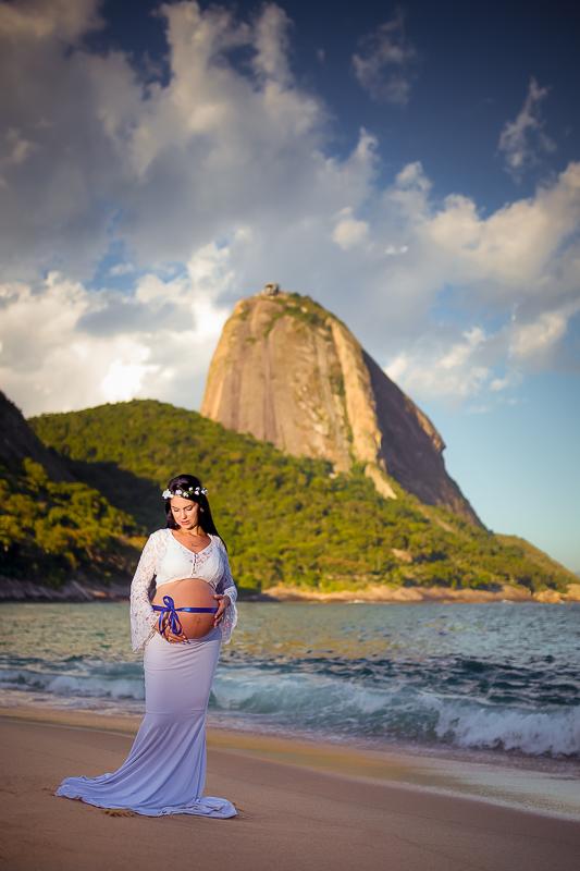 ensaio gravida praia rj