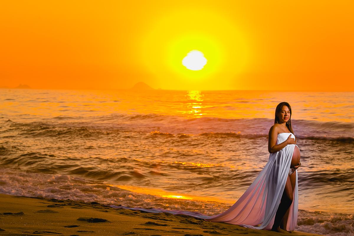 Ensaio gravida nascer do Sol