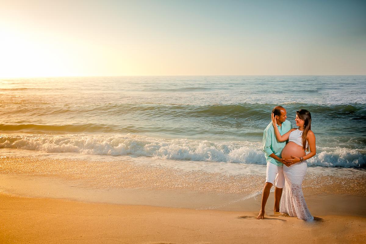 gravida na praia