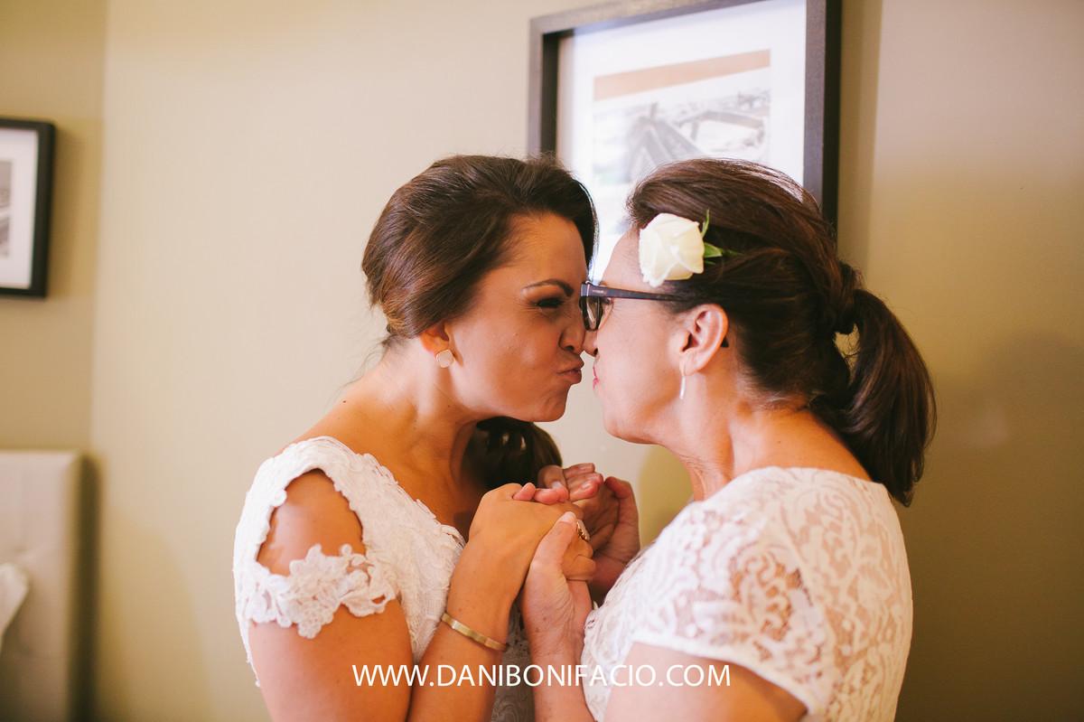 momento noiva e mãe