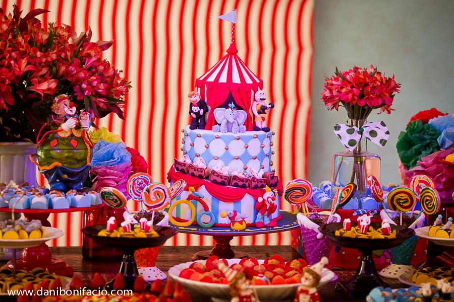 bolo de aniversário de circo