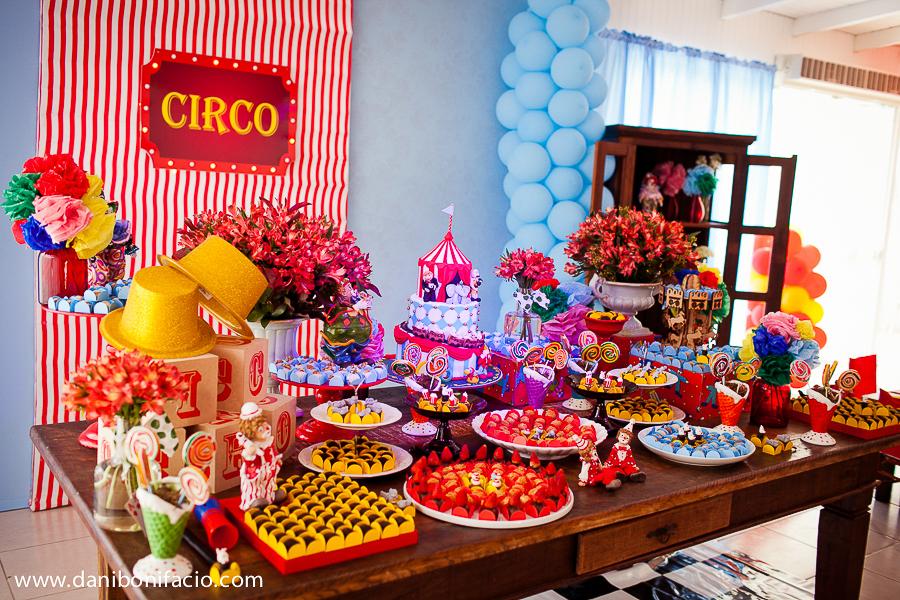 decoração de circo festa menino