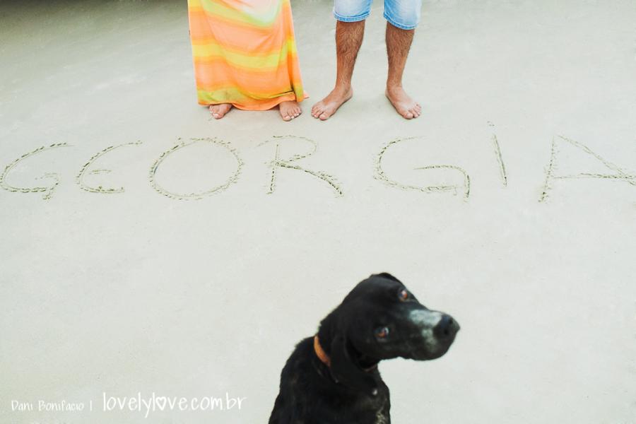 ensaio gravida na praia