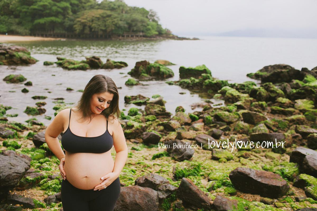 ensaio de gravida na praia