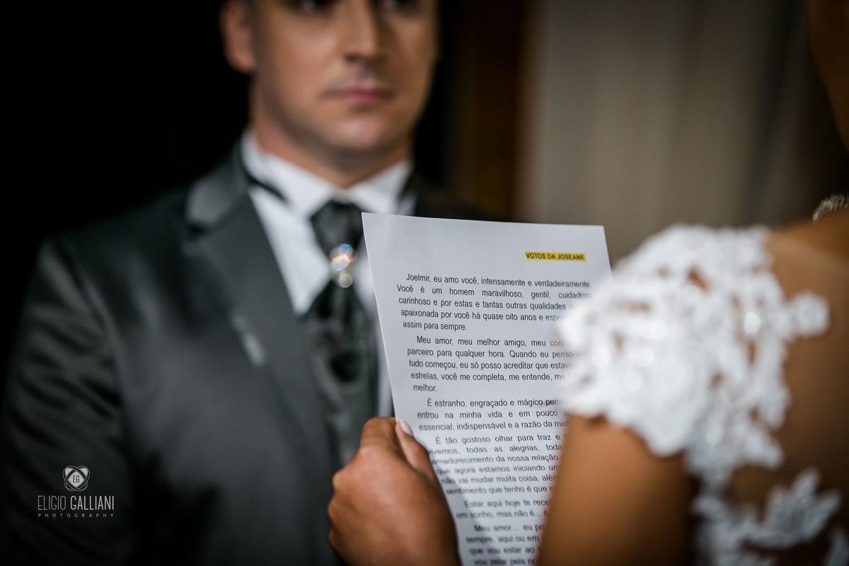 Leitura da noiva para o noivo