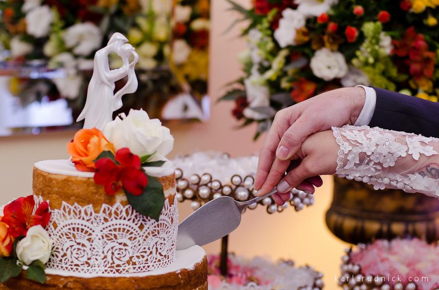Bolo de casamento por Jaque da Silva