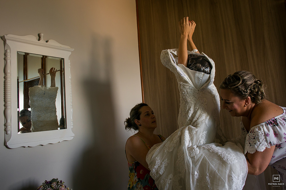vestido de noiva laguna