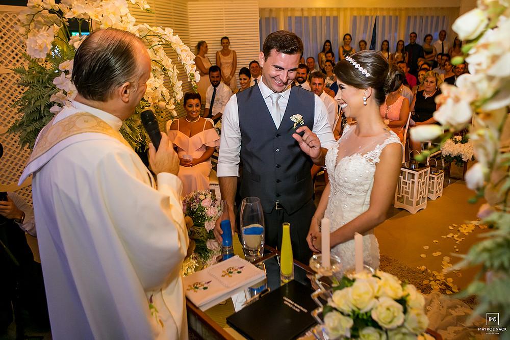 cerimonia de casamento laguna