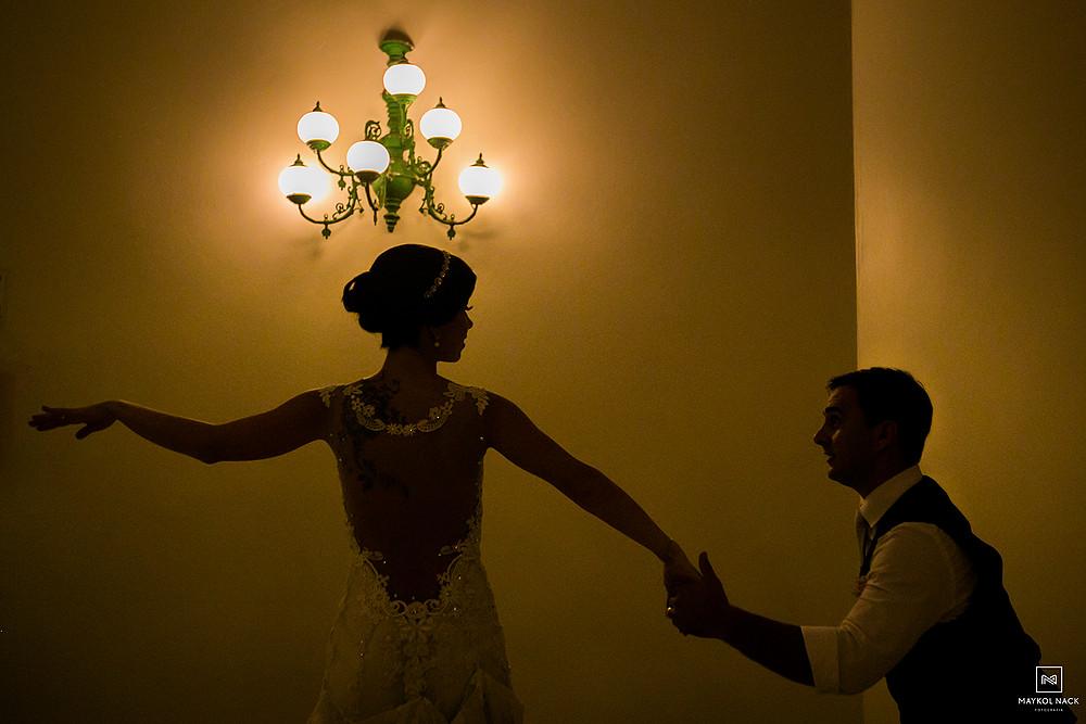 ensaio da dança de casamento