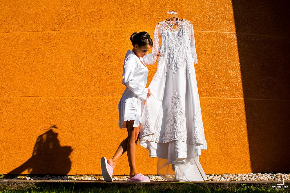 vestido de noiva casamento braço do norte